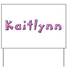 Kaitlynn Pink Giraffe Yard Sign