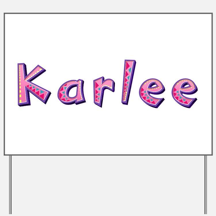 Karlee Pink Giraffe Yard Sign