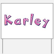 Karley Pink Giraffe Yard Sign