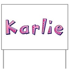 Karlie Pink Giraffe Yard Sign