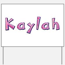 Kaylah Pink Giraffe Yard Sign