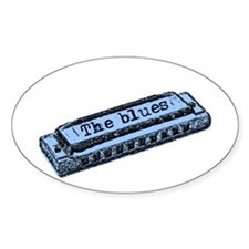 The Blues Harp Oval Decal