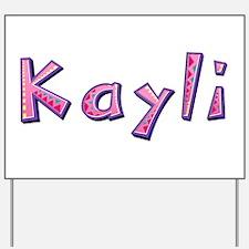 Kayli Pink Giraffe Yard Sign