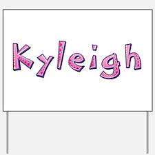 Kyleigh Pink Giraffe Yard Sign