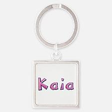 Kaia Pink Giraffe Square Keychain