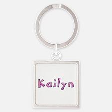 Kailyn Pink Giraffe Square Keychain