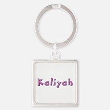 Kaliyah Pink Giraffe Square Keychain