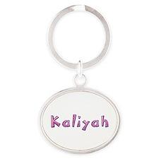 Kaliyah Pink Giraffe Oval Keychain