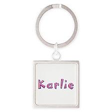 Karlie Pink Giraffe Square Keychain
