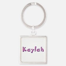 Kaylah Pink Giraffe Square Keychain
