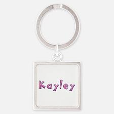 Kayley Pink Giraffe Square Keychain