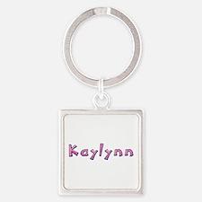Kaylynn Pink Giraffe Square Keychain