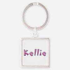 Kellie Pink Giraffe Square Keychain