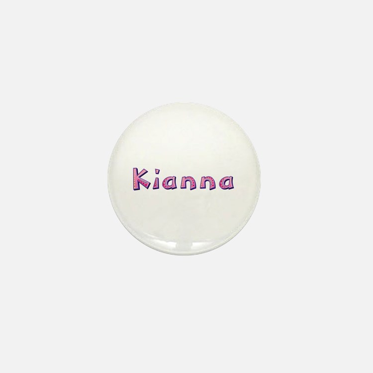 Kianna Pink Giraffe Mini Button