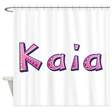 Kaia Pink Giraffe Shower Curtain