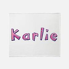 Karlie Pink Giraffe Throw Blanket