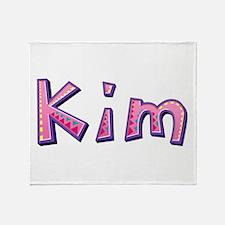 Kim Pink Giraffe Throw Blanket