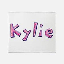 Kylie Pink Giraffe Throw Blanket