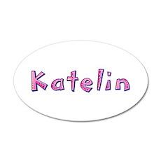 Katelin Pink Giraffe Wall Decal
