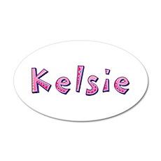 Kelsie Pink Giraffe Wall Decal