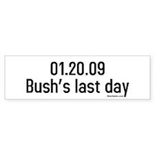 01.20.09 bushs last day Bumper Car Sticker