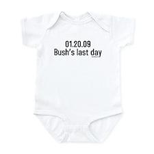 01.20.09 bushs last day Infant Bodysuit