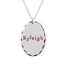 Kyleigh Pink Giraffe Oval Necklace