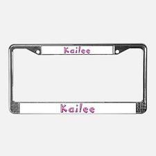 Kailee Pink Giraffe License Plate Frame