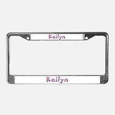 Kailyn Pink Giraffe License Plate Frame