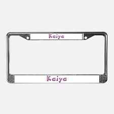Kaiya Pink Giraffe License Plate Frame