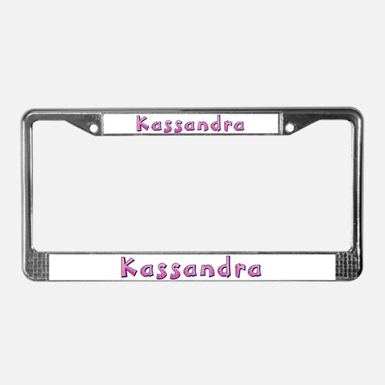 Kassandra Pink Giraffe License Plate Frame