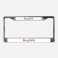Kaylah Pink Giraffe License Plate Frame
