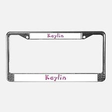 Kaylin Pink Giraffe License Plate Frame