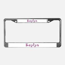 Kaylyn Pink Giraffe License Plate Frame