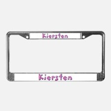 Kiersten Pink Giraffe License Plate Frame