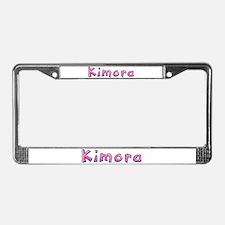 Kimora Pink Giraffe License Plate Frame