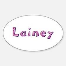 Lainey Pink Giraffe Oval Decal