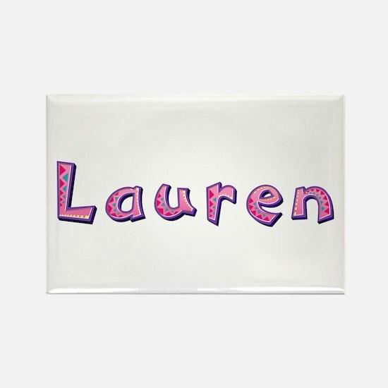 Lauren Pink Giraffe Rectangle Magnet