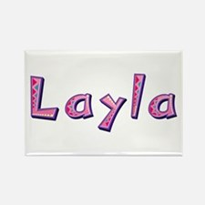Layla Pink Giraffe Rectangle Magnet