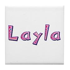 Layla Pink Giraffe Tile Coaster