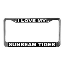 I Love My Sunbeam Tiger License Plate Frame #3