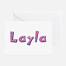Layla Pink Giraffe Greeting Card
