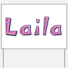 Laila Pink Giraffe Yard Sign