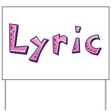 Lyric Pink Giraffe Yard Sign