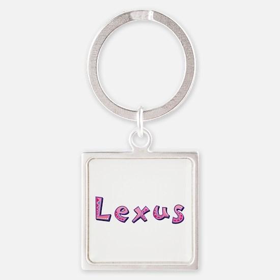 Lexus Pink Giraffe Square Keychain