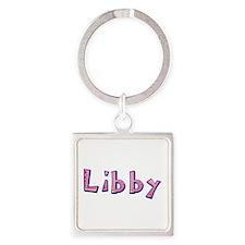 Libby Pink Giraffe Square Keychain