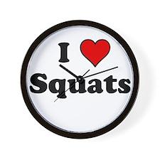 I Heart Squats Wall Clock