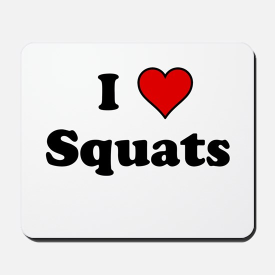 I Heart Squats Mousepad