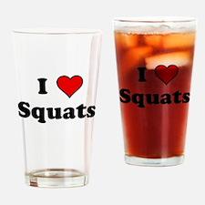 I Heart Squats Drinking Glass