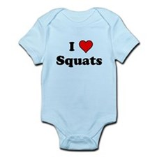 I Heart Squats Body Suit